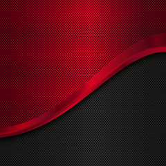 Red and black metal background. Vector illustration