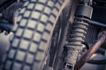 Vintage motorcycle suspension