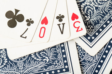 .poker card game arrange love text