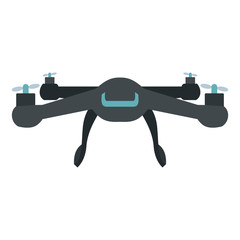 Drone vector icon in flat style
