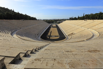 Panathenaic stadium or kallimarmaro in Athens (hosted the first modern Olympic Games in 1896), Greece