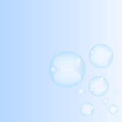 Bubbles of soap on a colorful background. Vector illustration