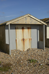 Beach hut at Lancing, West Sussex, England