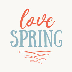 It's spring time lettering greeting card. Special spring sale typography poster. Vector illustration