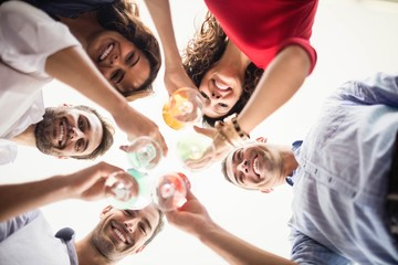 Group of friends having cocktail