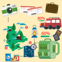 Travel information graphics vector for your ideas!