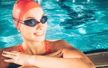 Female Swimmer/ Portrait of a female swimmer