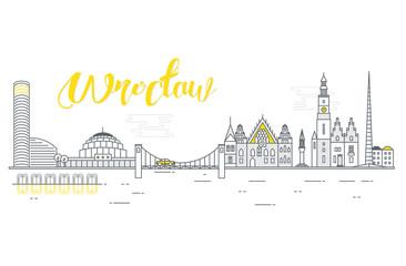 Fototapeta Panorama miasta Wrocław obraz
