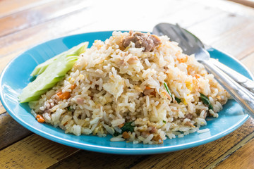 Fried rice with tuna.