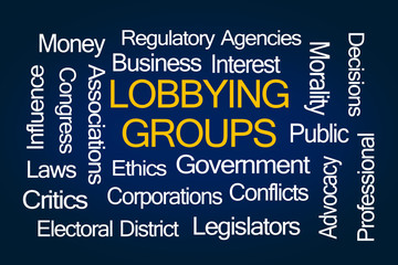 Lobbying Groups Word Cloud