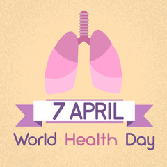 Lungs World Health Day 7 April Banner