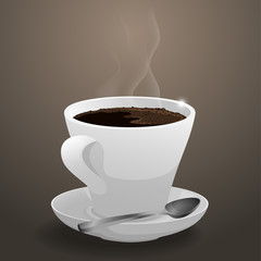 Cup of hot, fragrant coffee.Vector illustration.