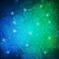 Technology computer digital data code background