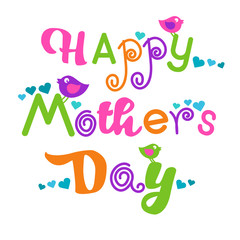 Happy Mother Day, Colorful Text Greeting Card Banner