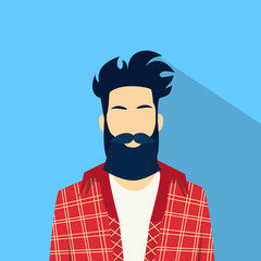 Business Man Profile Icon Male Avatar Hipster