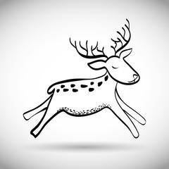 Deer icon design, vector illustration