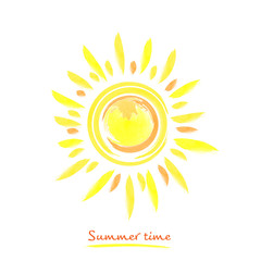 Summer time with bright yellow sun
