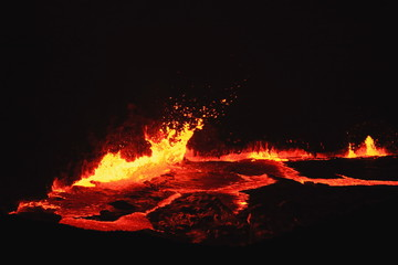Burning lava lake of Erta Ale volcano-Danakil-Ethiopia. 0229