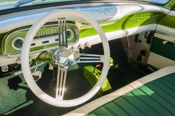 Wall Mural - green retro vehicle interior