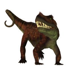Prestosuchus on White - Prestosuchus was a carnivorous archosaur dinosaur that lived in the Triassic Period of Brazil.