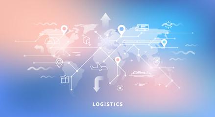 Web banner of logistics