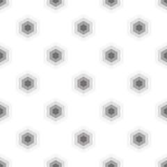 Seamless Black and White Geometric Pattern from Hexagons