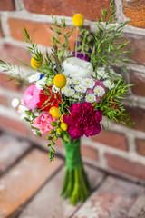 Fototapeta bukiet z polnych kwiatów z prawej obraz