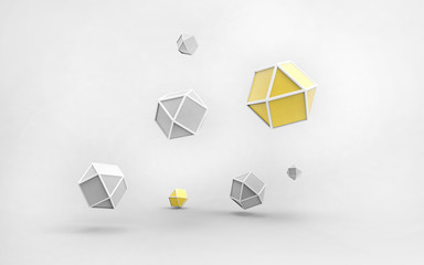 Geometrical Lowpoly abstract technology and create design