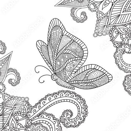 Quot Coloring Pages For Adults Henna Mehndi Doodles Abstract
