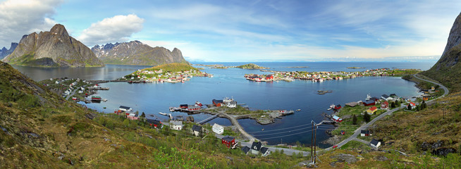 Wall Mural - Panorama of village in Norway