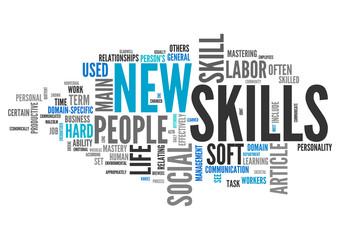 Word Cloud New Skills