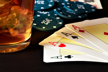 Poker, whiskey and money.