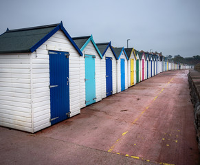 Devon beach huts in UK