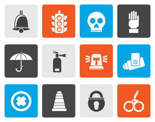 Flat Surveillance and Security Icons - vector icon set