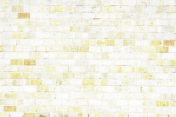 old vintage white brick wall texture background