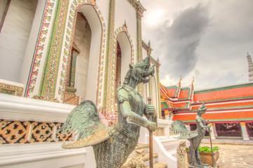 Monster statue inside public royal temple