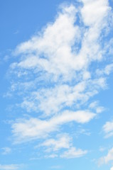 Clouds in the blue sky for background.