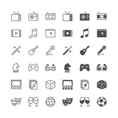 Entertainment icons, included normal and enable state.