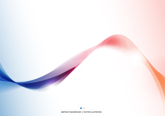 Blue Pink wave abstract background. Presentation template. Design layout. Wallpaper