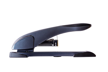 Large black stapler.