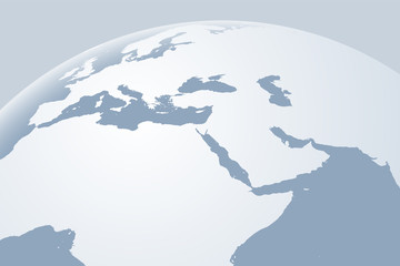 Infographics Vector Background #Global Map_Europe & Middle East
