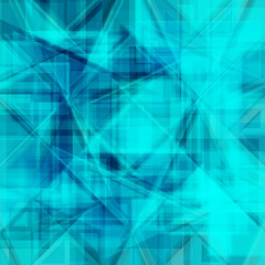 Vector abstract background. Consists of geometric elements. The elements have a triangular shape. In blue.