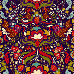Bright colorful seamless pattern