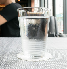 water in the glass