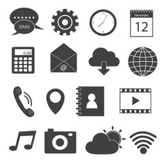 Mobile Application Icons Set