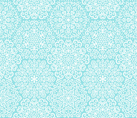 White and blue ornamental pattern