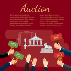 Auction vector illustration