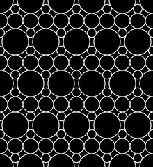 Vector modern seamless geometry pattern circles, black and white abstract geometric background, pillow print, monochrome retro texture, hipster fashion design
