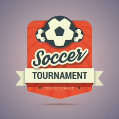 Soccer tournament badge