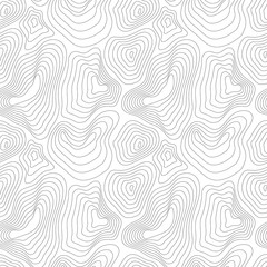 Heights map black contour, seamless pattern